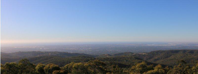 landscape view from mount lofty summit