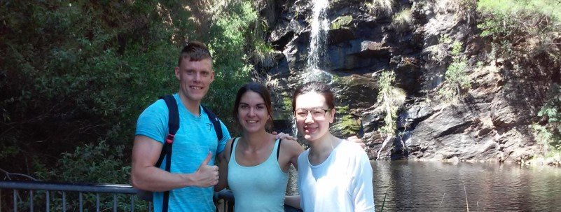 tour group at waterfall gully