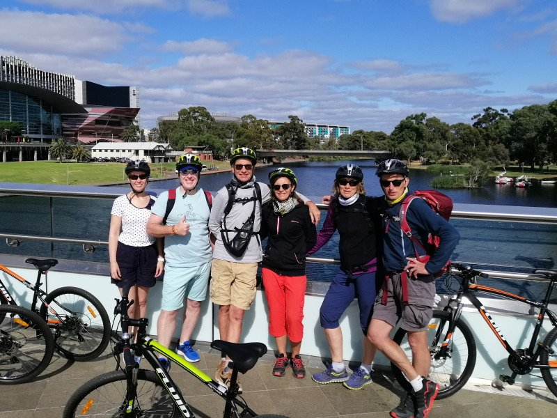 Cycle group at River Torrens - Photo: Pure SA